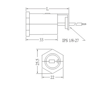 E14 Phenolic Lamp holder base with bracket GE-318 Drawing