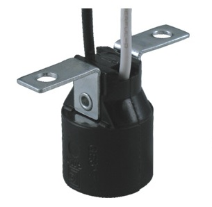 E17 Phenolic Lamp holder base with bracket GE-317-1
