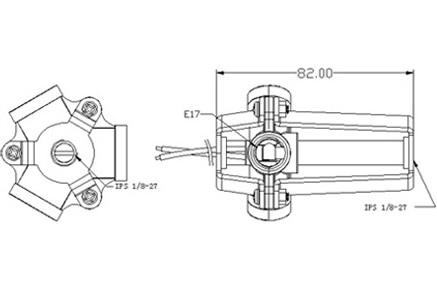 E17 Plastic Lamp Socket Base GE-3017 Drawing