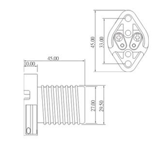 E17 ceramic halogen lamp holder socket base L026 diagram