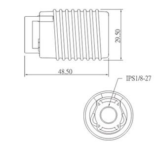 E17 ceramic halogen lamp holder socket base with bracket dimension