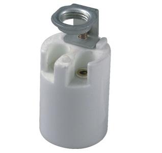 E17 porcelain halogen lamp holder socket base with ring bracket