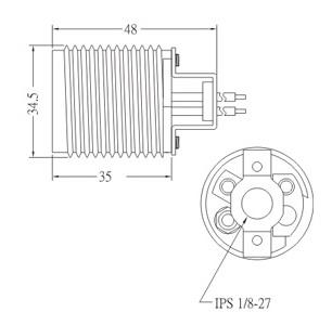 GE-6002B-1 E26 Phenolic Lamp holder Diagram
