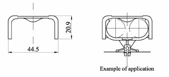 Energy saving lamp Safey bracket Dimension