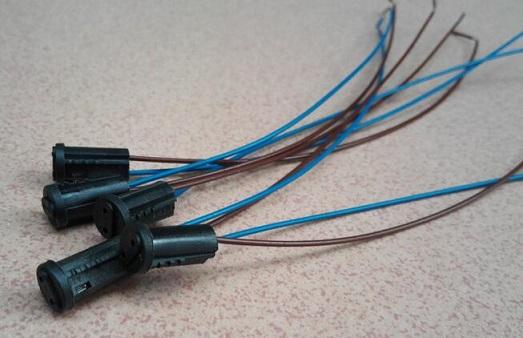 G4 plastic Bi-pin socket base MR11 lamp holder black 12V for halogen led bulbs