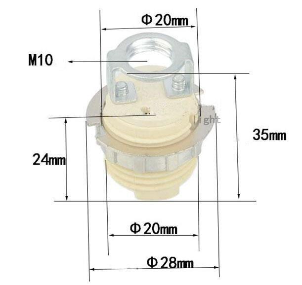 G9 ceramic lamp holder socket base m10 bracket drawing size