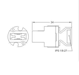 G9 porcelain Lamp holders socket base diagram drawing size