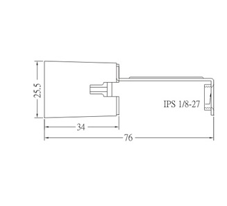 GE-314 Phenolic Lamp Socket Base E14 With Bracket Diagram