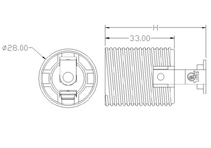 GE-517 Lamp Socket E17 Bulb Base dimension