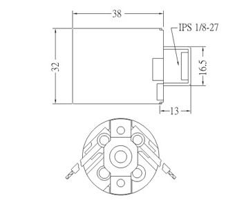 GE-6002-3 E26 Phenolic Light Socket diagram