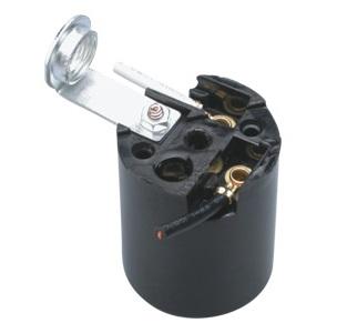 GE-6002L E26 Phenolic Lamp holder sockets with L bracket