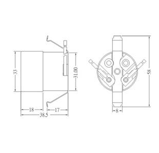 GE-6004-1 E26 Phenolic Lamp Holder Sockets diagram