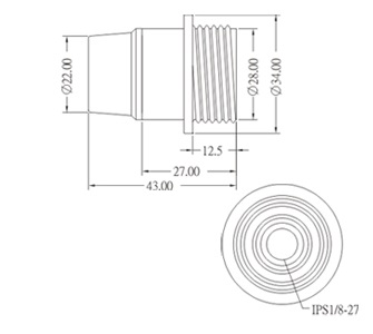 E-612-1 E12 Phenolic Candelabra Lamp Socket Base Diagram