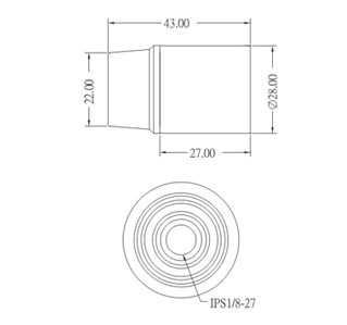 GE-612A Phenolic Candelabra Lamp Socket Base E12 Dimension