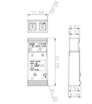 GS-C02 Wire Connectors and Terminal Blocks Diagram size