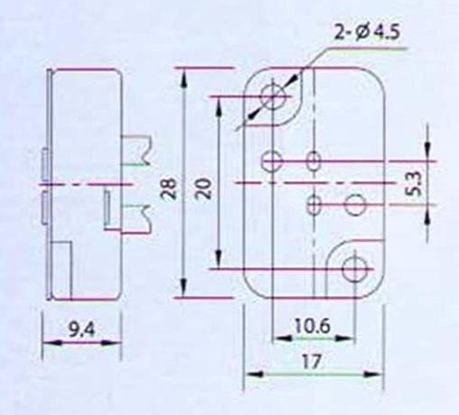 GX5.3 ceramic lamp holder socket base drawing size