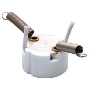 GZ10 Ceramic lamp holder base with spring