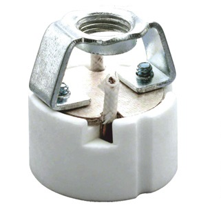 GZ10 porcelain lamp socket base with ring bracket