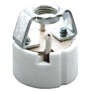 GZ10 porcelain lamp socket base with ring bracket