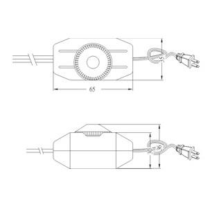 Hi-line dimmer SC-238 Dimension