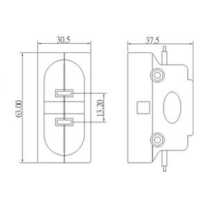 PAR56 PAR64 Mogul prong lamp holder socket base dimension
