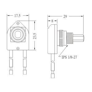 Push botton switch PS17-1 Diagram