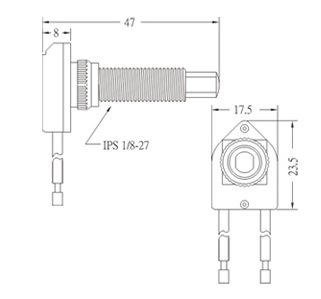Push botton switch PS17-3 Diagram