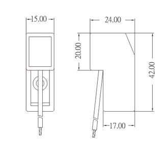 R7S porcelain lamp socket base MODEL-A dimension