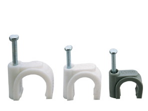 Round Cable Wire Clips 6mm Tie Holder Single Coaxial Nail Clamps