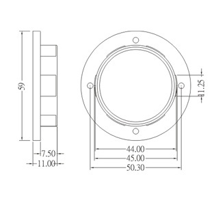 Shade ring diagram for GE-6050,GE-6051,SC-228,SC-228-1,SC-228-2