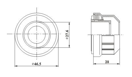T5 lamp Sleeve diagram