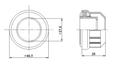 T8 lamp Sleeve diagram
