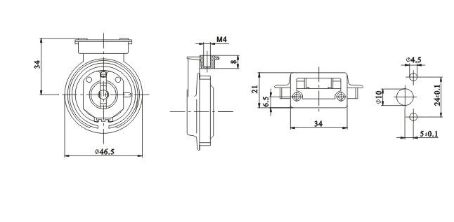 G13 dustproof protected lampholders diagram
